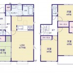 新潟市江南区天野の新築住宅の間取り図