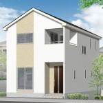 新潟市江南区北山(3号棟)の新築住宅の外観完成予定パース