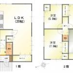 新潟市北区松浜東町の中古住宅の間取図