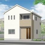 新潟市東区東中島(2号棟)の新築住宅の外観完成予定パース