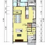 新潟市東区山の下町の土地の建築プラン例の1階間取図