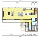 新潟市中央区紫竹山の土地の建物プラン例の1階間取り図