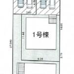新潟市西区山田の新築住宅の区画図