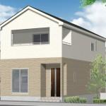 新潟市江南区曽野木の新築住宅の1号棟外観完成予定パース