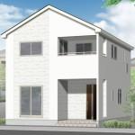 新潟市江南区北山の新築住宅(1号棟)の外観完成予定パース