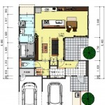 新潟市西区寺尾東の【土地】不動産情報の建物プランの1階間取図