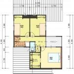 新潟市西区寺尾東の【土地】不動産情報の建物プランの2階間取図