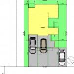 新潟市西区寺尾東の【土地】不動産情報の建物プランの配置図