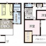 新潟市東区上木戸の新築住宅のA棟間取図