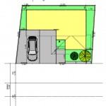 新潟市中央区紫竹山の土地の建物プラン例の配置図