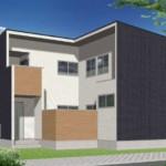 新潟市東区上木戸の新築住宅のA棟パース
