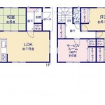 新潟市東区東中島(2号棟)の新築住宅の間取図