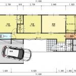 新潟市中央区紫竹山の建物プランの1階間取図