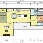 新潟市中央区紫竹山の建物プランの2階間取図