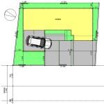 新潟市中央区紫竹山の建物プランの配置図