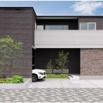 新潟市中央区紫竹山の建物プランの外観パース