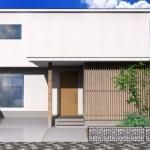 新潟市中央区紫竹山の土地の建物プラン例の外観パース