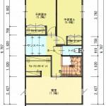 新潟市東区山の下町の土地の建築プラン例の2階間取図