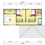 新潟市中央区紫竹山の土地の建物プラン例の2階間取り図