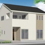 新潟市中央区高志の新築住宅の外観完成予定パース