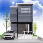 新潟市秋葉区みそら野3丁目の土地の建物プラン例(外観パース)