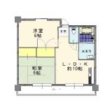 新潟市中央区寄居町の【収益物件《富士マンション》】不動産情報の間取図