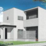 新潟市東区上木戸の新築住宅のB棟パース