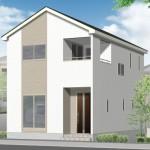 新潟市江南区北山(2号棟)の新築住宅の外観完成予定パース