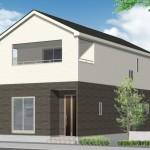 新潟市東区竹尾の新築住宅(2号棟)の外観完成予定2号棟パース