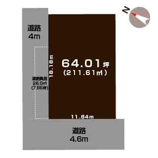 新潟市西区寺尾東の【土地】不動産情報の敷地図
