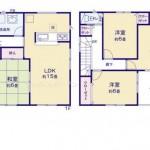新潟市江南区横越中央の新築住宅の間取図