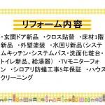 新潟市南区大通の【中古住宅】のリフォーム内容