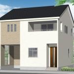 新潟市東区石山の新築住宅の外観完成予定パース