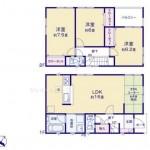 新潟市東区東中野山の新築住宅(1号棟)の間取図