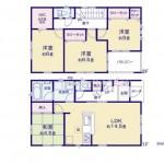 新潟市東区東中野山の新築住宅(2号棟)の間取図