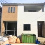 新潟市東区石山の新築住宅【1号棟】の外観写真