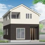 新潟市東区東中野山の新築住宅(2号棟)の外観完成予定パース