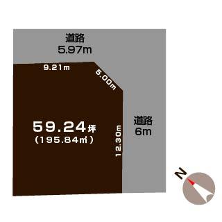 新発田市中曽根町の土地の敷地図