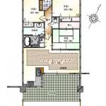 中央区幸西1丁目【サーパス南万代】のマンションの間取図