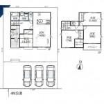 新潟市西蒲区川崎の【新築住宅】不動産情報の間取図