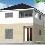 西区寺尾東3丁目の新築住宅2号棟の外観完成予定パース