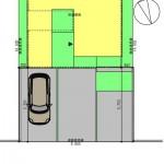 中央区網川原1丁目の土地の建物プラン例の配置図【区画4】