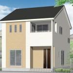 新潟市中央区高志の新築住宅の1号棟外観完成予定パース