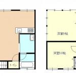 新潟市西蒲区和納の中古住宅の間取図