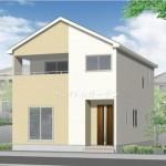 秋葉区金沢町の新築住宅3号棟の外観完成予定パース