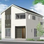 秋葉区金沢町の新築住宅2号棟の外観完成予定パース