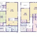 新潟市中央区高志の新築住宅の1号棟間取図