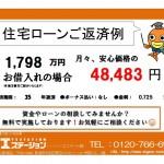 新潟市東区小金台の中古住宅の住宅ローン返済例
