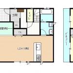 燕市小池新町の新築住宅の間取り図