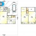新潟市北区須戸の中古住宅の間取図